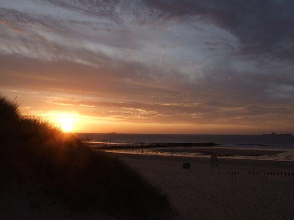 Sonnenuntergang in Cadzand Bad/NL