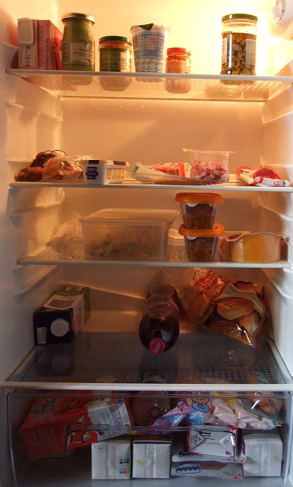 ...und der Kühlschrank war auch voll!