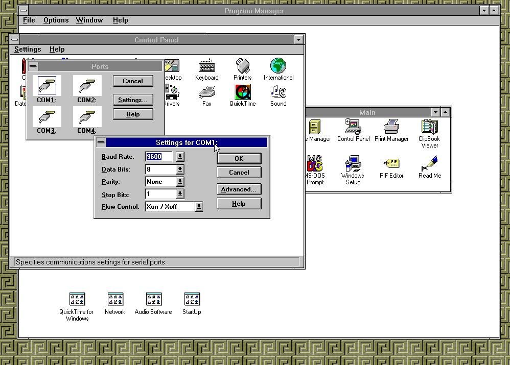 So sah das damals bei Windows 3.1 aus.